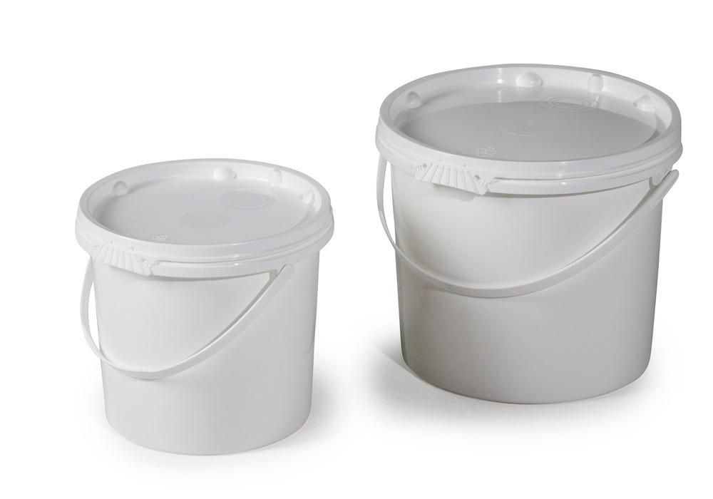 UN-zugelassene Kunststoff-Eimer mit 5,5 oder 11,0 Liter Volumen.