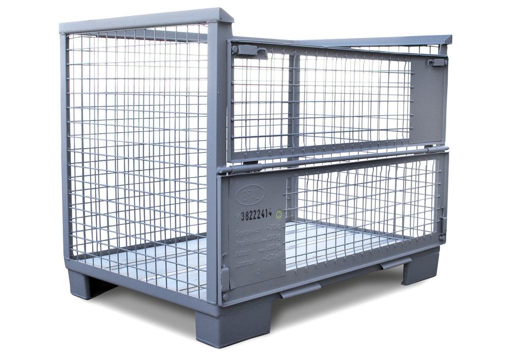 Euro-Gitterbox-Tauschpalette gemäß UIC-Norm 435-3, ideal für Lager- und Transportzwecke