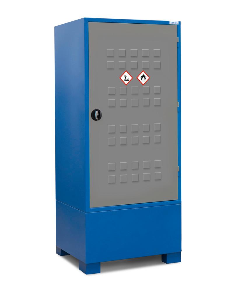 Alle Gefahrstoffdepots Securo Typ SC sind abschließbar zum Schutz vor unbefugtem Zugriff.