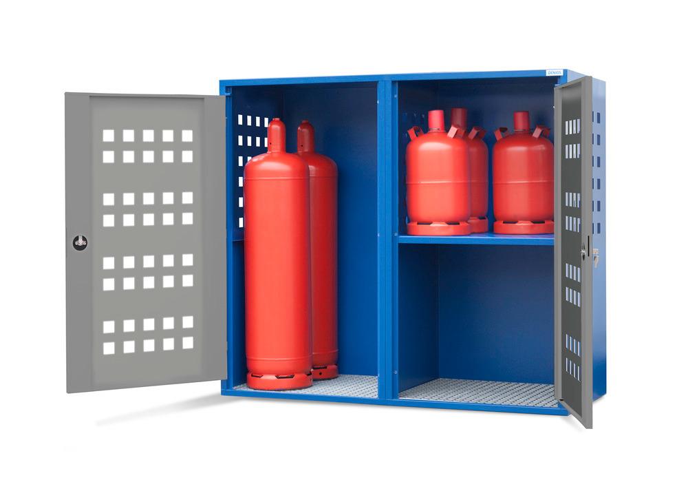 Gasflaschenschrank Typ LB 8, zur Lagerung von bis zu 20 Gasflaschen à 11 kg oder 8 Gasflaschen à 33 kg