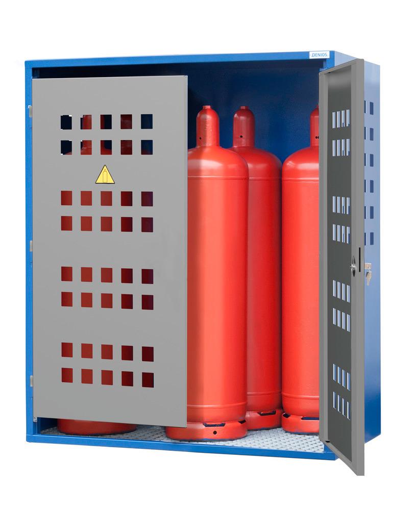 Gasflaschenschrank Typ LB 6, zur Lagerung von bis zu 6 Gasflaschen à 33 kg