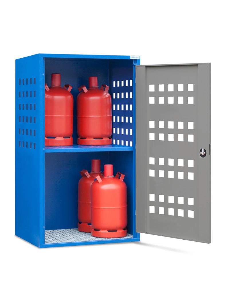 Gasflaschenschrank Typ LB 4, zur Lagerung von bis zu 10 Gasflaschen à 11 kg