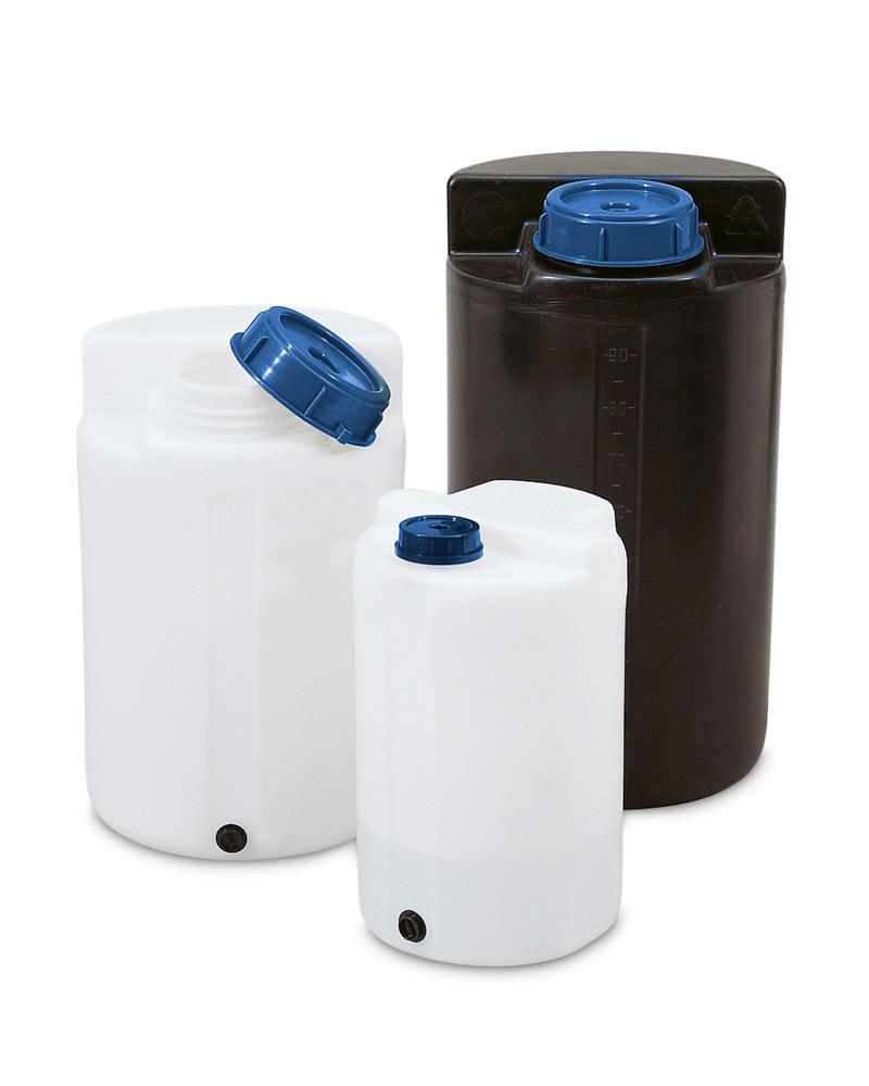 Lager- und Dosierbehälter mit einem Auffangvolumen von 35 bis 100 Liter