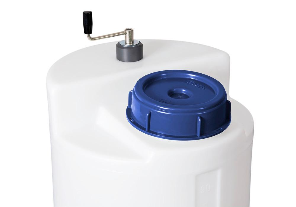 Handrührwerke für zylindrische 60- bis 1000-Liter-Behälter.