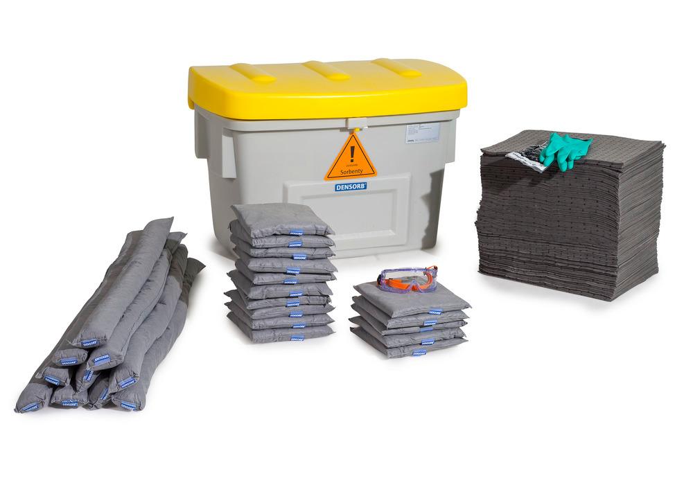 Sicherheitsbox, gefüllt mit Bindemitteln, Aufnahmekapazität bis zu 211 Liter