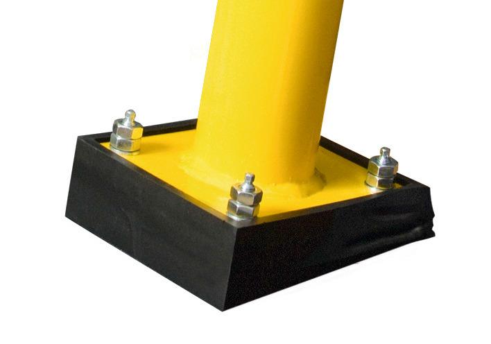 Je Rammschutzbügel werden 2 x Federelement und 1 x Befestigungsset für Federelement benötigt