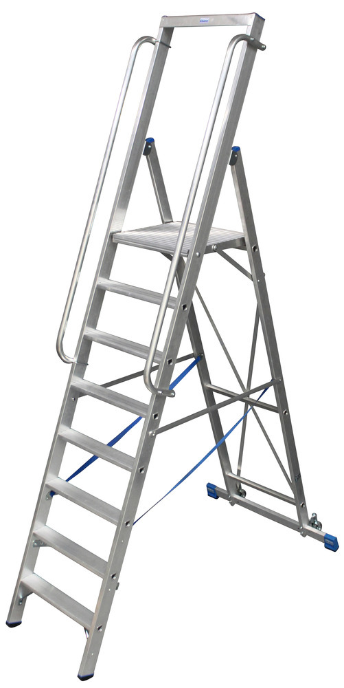 stabile Stufenstehleiter aus Aluminium