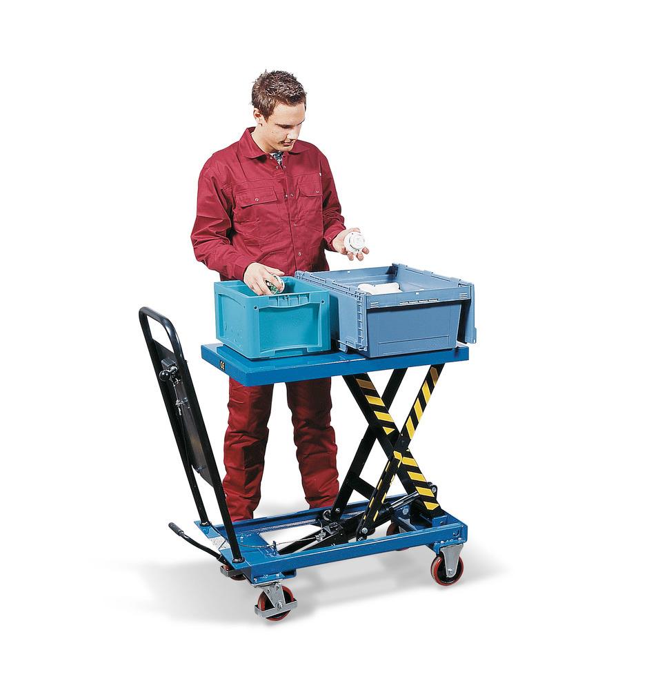 Hubtischwagen mit Einzel-Schere.