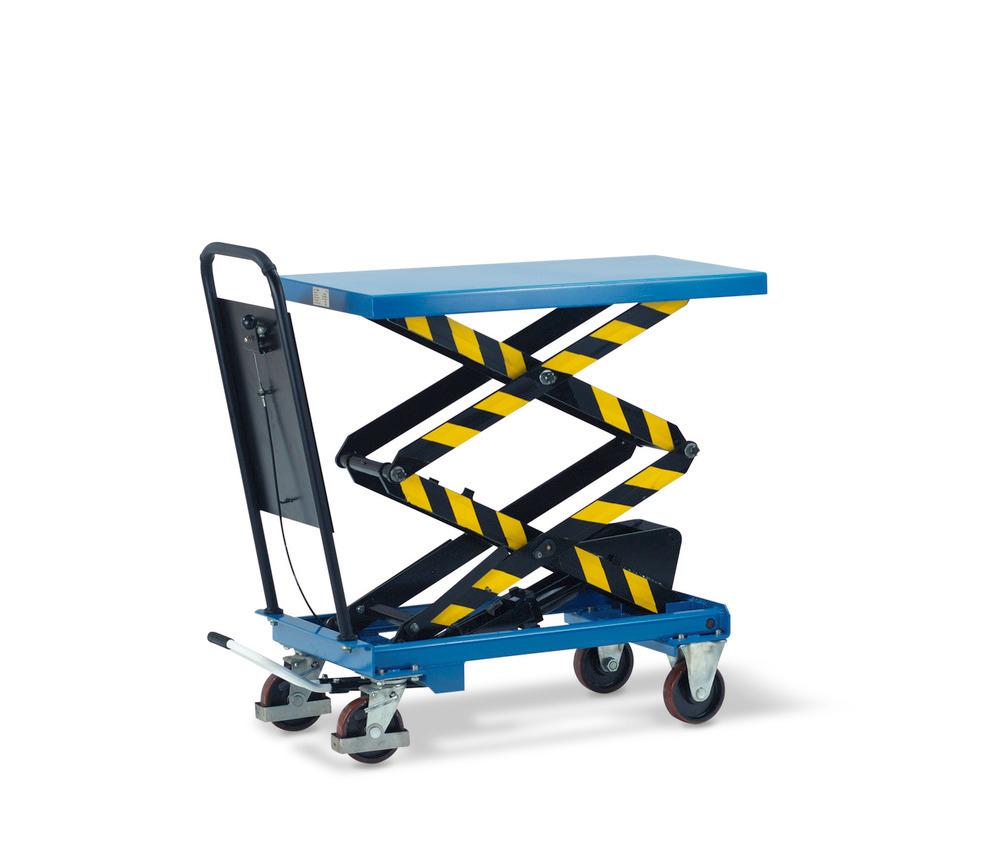 Hubtischwagen mit Doppel-Schere.
