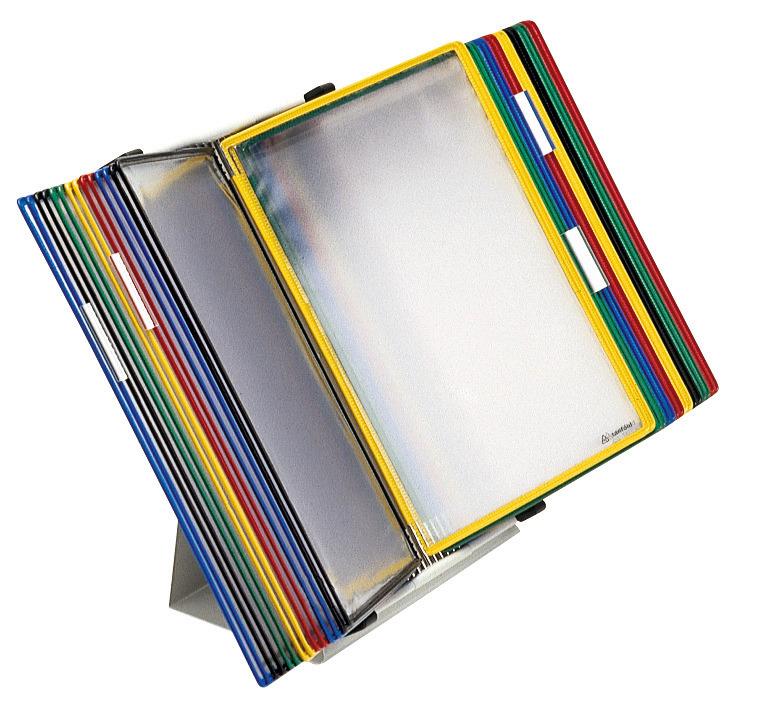 Tischständer mit 10 bis 30 Tafeln DIN A4 als Komplettangebot.