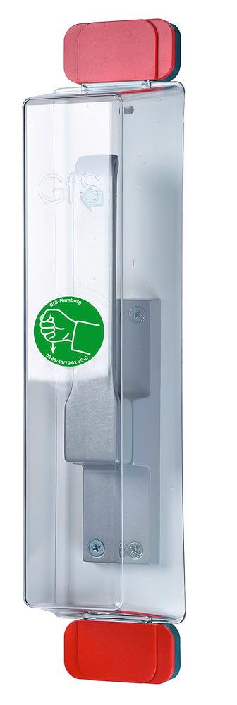 Fluchttürhauben Typen D2 und E, für die Absicherung von Treibriegeln.