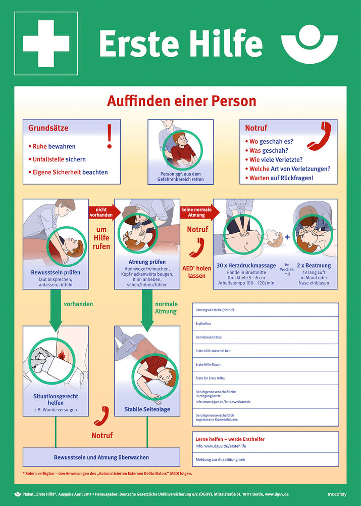Anleitung zur Ersten Hilfe - Ausgabe 2011.