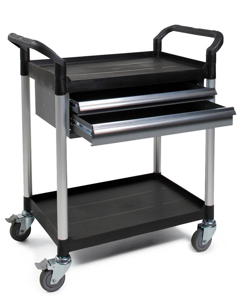 Modelle TOOL: mit leichtgängigen Schubladen (eine automatische Sperre verhindert ungewolltes Herausfahren der Lade)