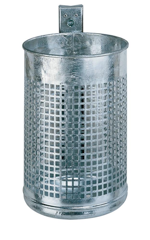 "Abfallkörbe, Design ""Lochblech"", wahlweise 20 oder 50 Liter Volumen"
