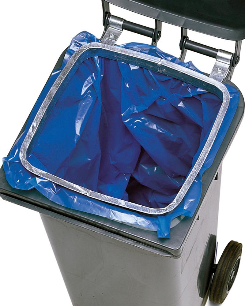 Müllsackhalterung für 80-, 120- und 240-Liter-Behälter als Zubehör lieferbar