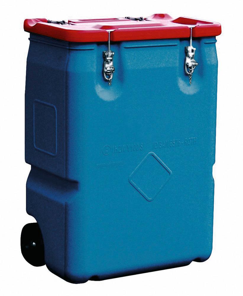 Transportbehälter, mit 170 oder 250 Liter Volumen.