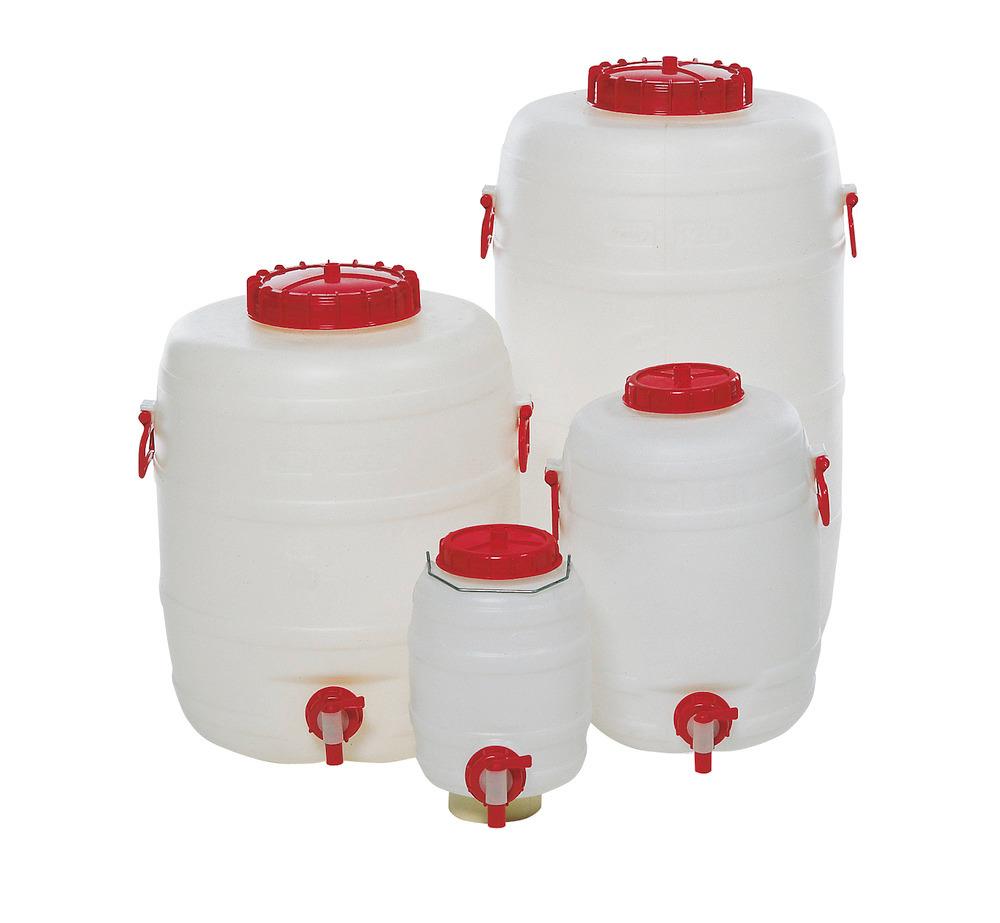 Kunststoff-Fässer in 6 Größen, von 10 bis 125 Liter