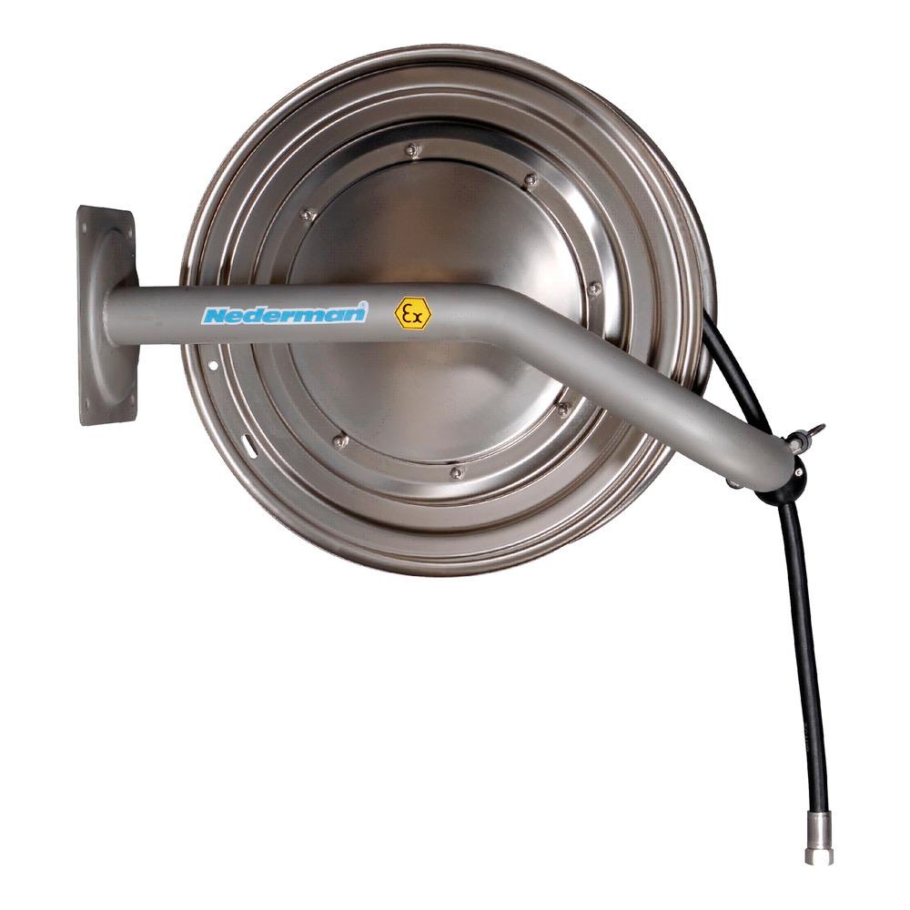 Edelstahl-Schlauchaufroller Typ EX-H, für Wasser und Luft.
