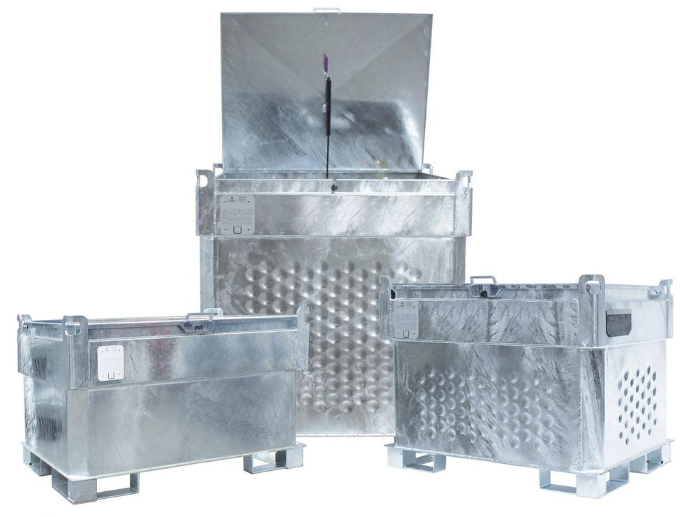 Kraftstoff-Container Typ KI in besonders kompakter Bauweise, 3-fach stapelbar