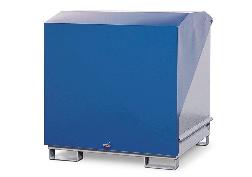 Gefahrstoffdepot Typ 4GST-KS, lackiert, optional mit 200 oder 400 Liter Auffangvolumen.