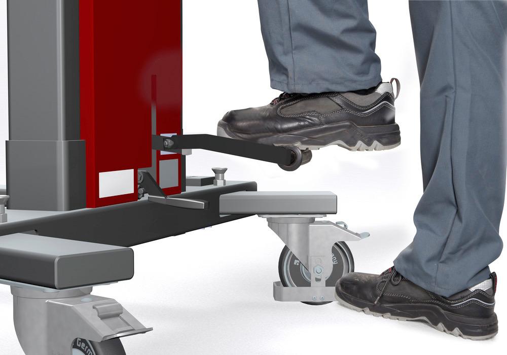 Klappbares Fußpedal und Fußschutz für optimale Sicherheit