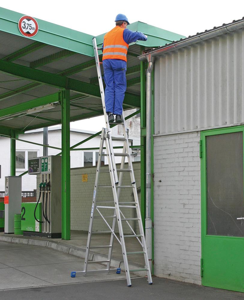 Für mehr Sicherheit - Trigon-Traverse, so kann auch das entnehmbare Leiternteil normkonform genutzt werden