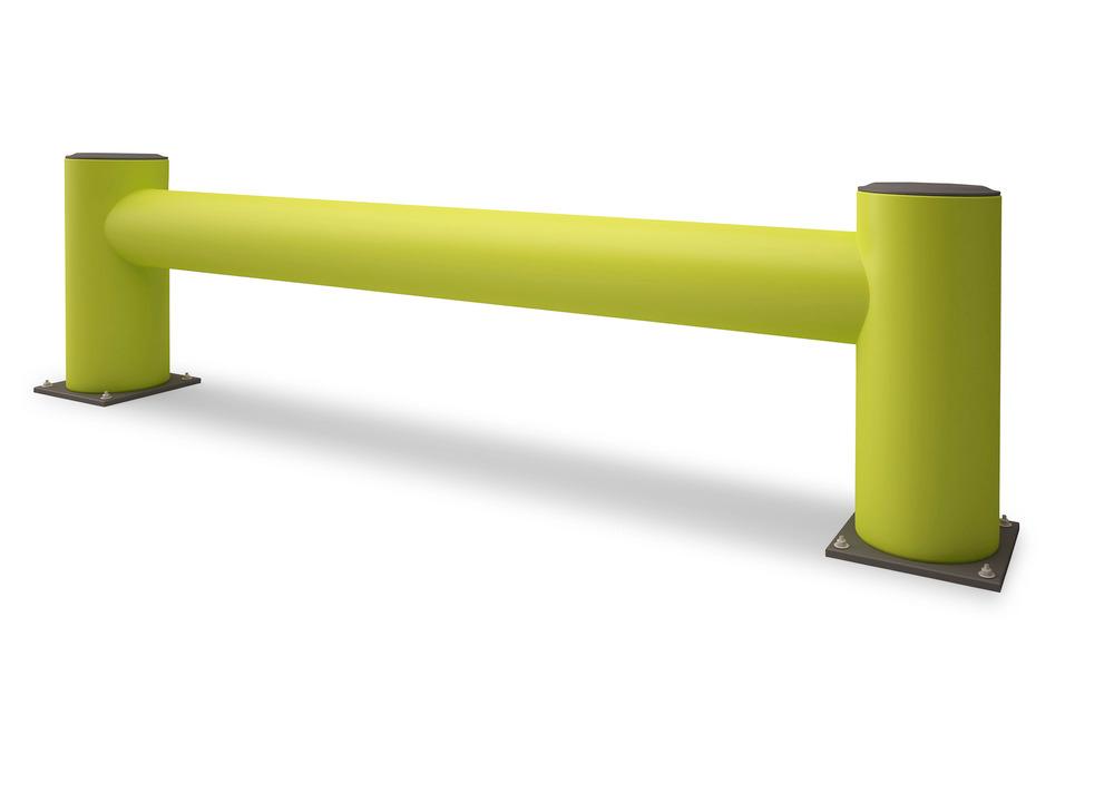 Der Regalanfahrschutz ist lieferbar in den Versionen Einzel- oder Doppelplanke