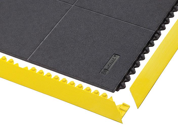 Steckfliese mit geschlossener Oberfläche, Kantenleisten optional erhältlich